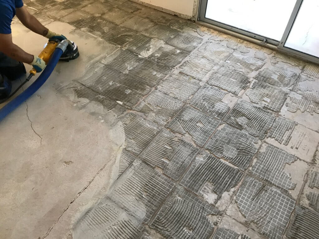 dustless tile removal services